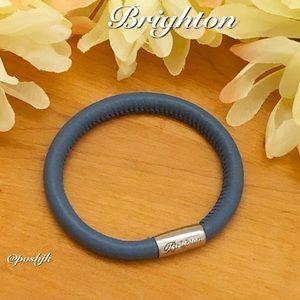 Brighton Woodstock Bracelet Blue leather Silver